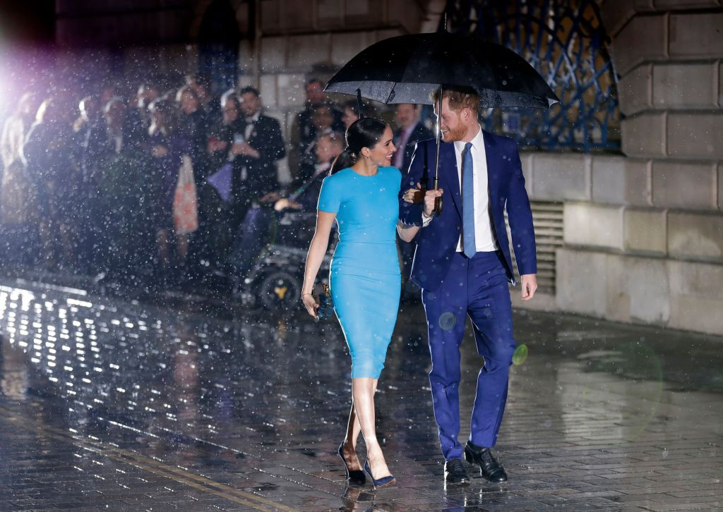 Britain's Prince Harry and Meghan Duchess of Sussex arrive at the annual Endeavour Fund Awards in London,. The awards celebrate the achievements of service personnel who were injured in service and have gone on to use sport as part of their recovery and rehabilitationRoyals, London, United Kingdom - 05 Mar 2020