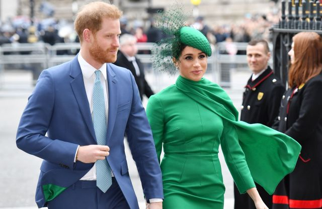 prince harry and meghan markle make last appearance with royal family wwd https wwd com fashion news fashion scoops gallery british royal family commonwealth day services 2020 photos 1203534667