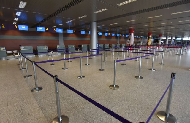 Some airports have had to shut down due to the coronavirus pandemic.