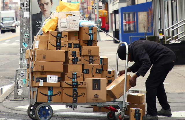 Amazon delivery during the coronavirus pandemic