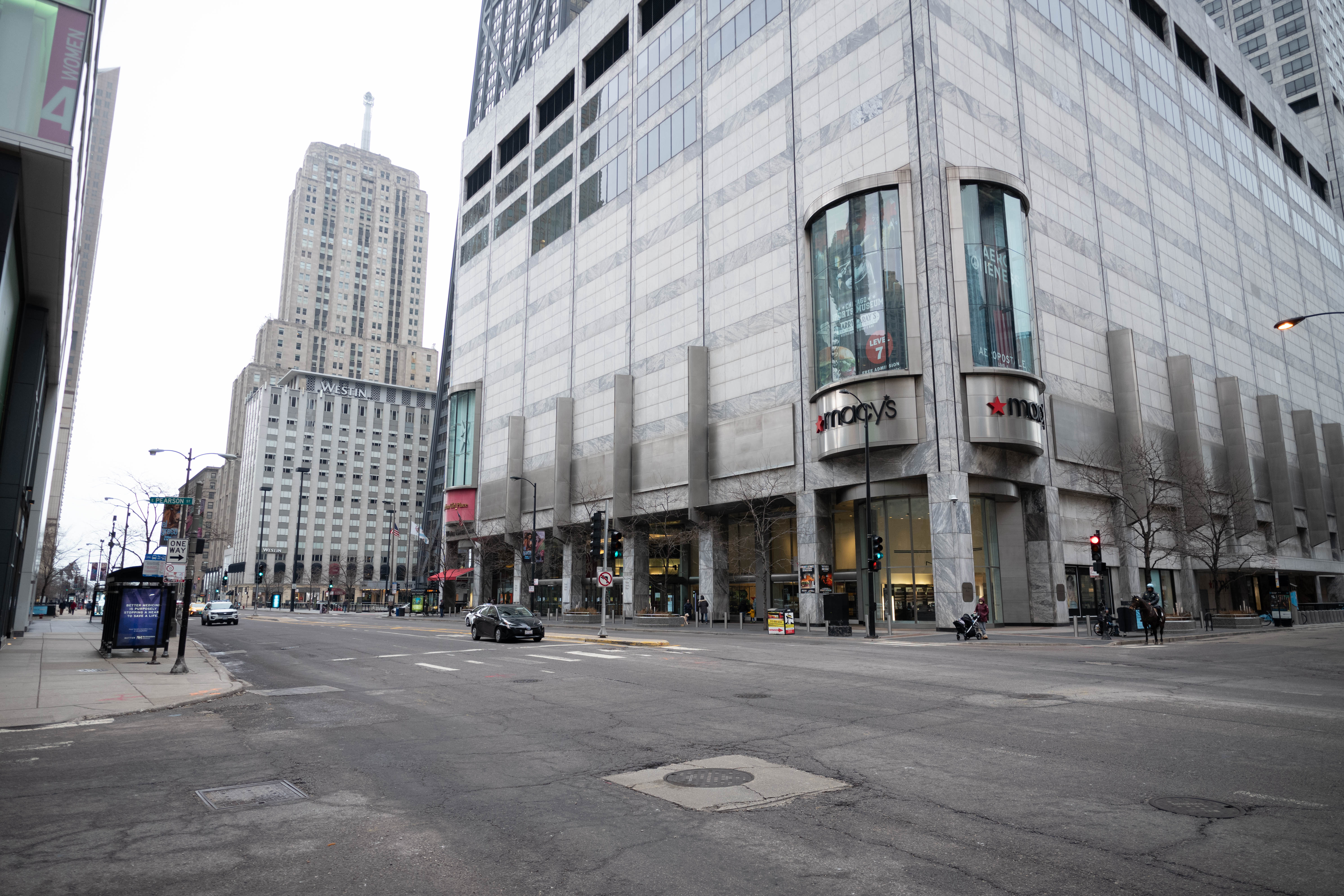 Atmosphere photo from a major Chicago street during the first week of containment for the CoronavirusCoronavirus Outbreak, Chicago, USA - 19 Mar 2020
