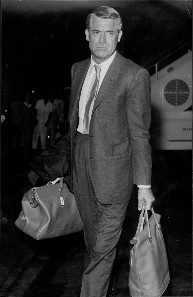 Actor Cary Grant Arriving At London Airport - 1959 Actor Cary Grant Arriving At London Airport - 1959