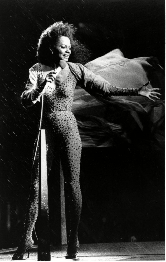 """DIANA ROSS Pop singer Diana Ross keeps singing despite a heavy downpour during her free concert in New York's Central Park where an estimated 80,000 people gathered on the Great Lawn on . Ross, who earlier commented, """"It took me a lifetime to get here, I'm not going anywhere,"""" was forced to stop singing 45 minutes into the concertDIANA ROSS CENTRAL PARK, NEW YORK, USA"""
