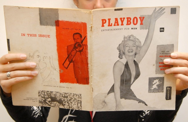 The first issue of Playboy magazine from December 1953.