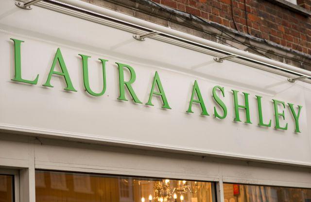 Laura Ashley store signLaura Ashley, Reigate, Surrey, UK - 25 Mar 2018