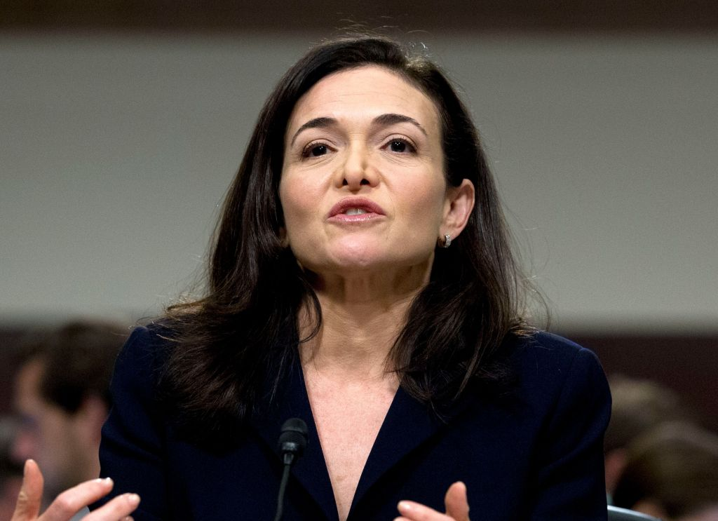 Sheryl Sandberg Facebook before congress