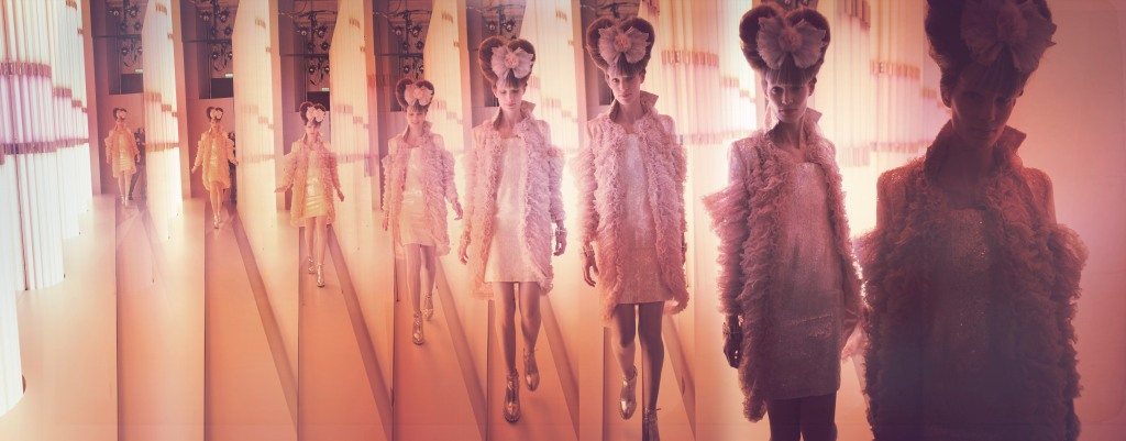 A photograph by Simon Procter from the Chanel haute couture spring 2010 show