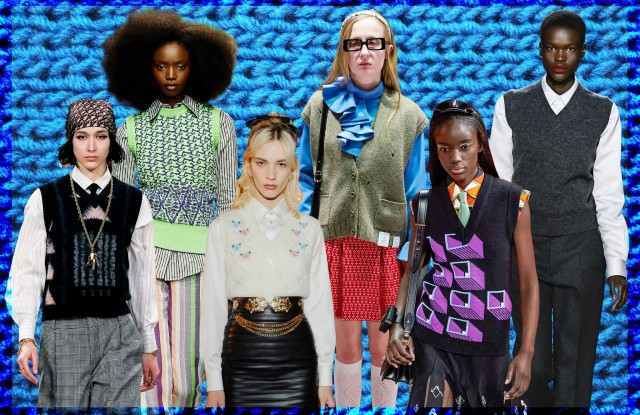 Fall looks from Dior, Kenneth Ize, Alessandra Rich, Gucci, Prada, and Marc Jacobs.