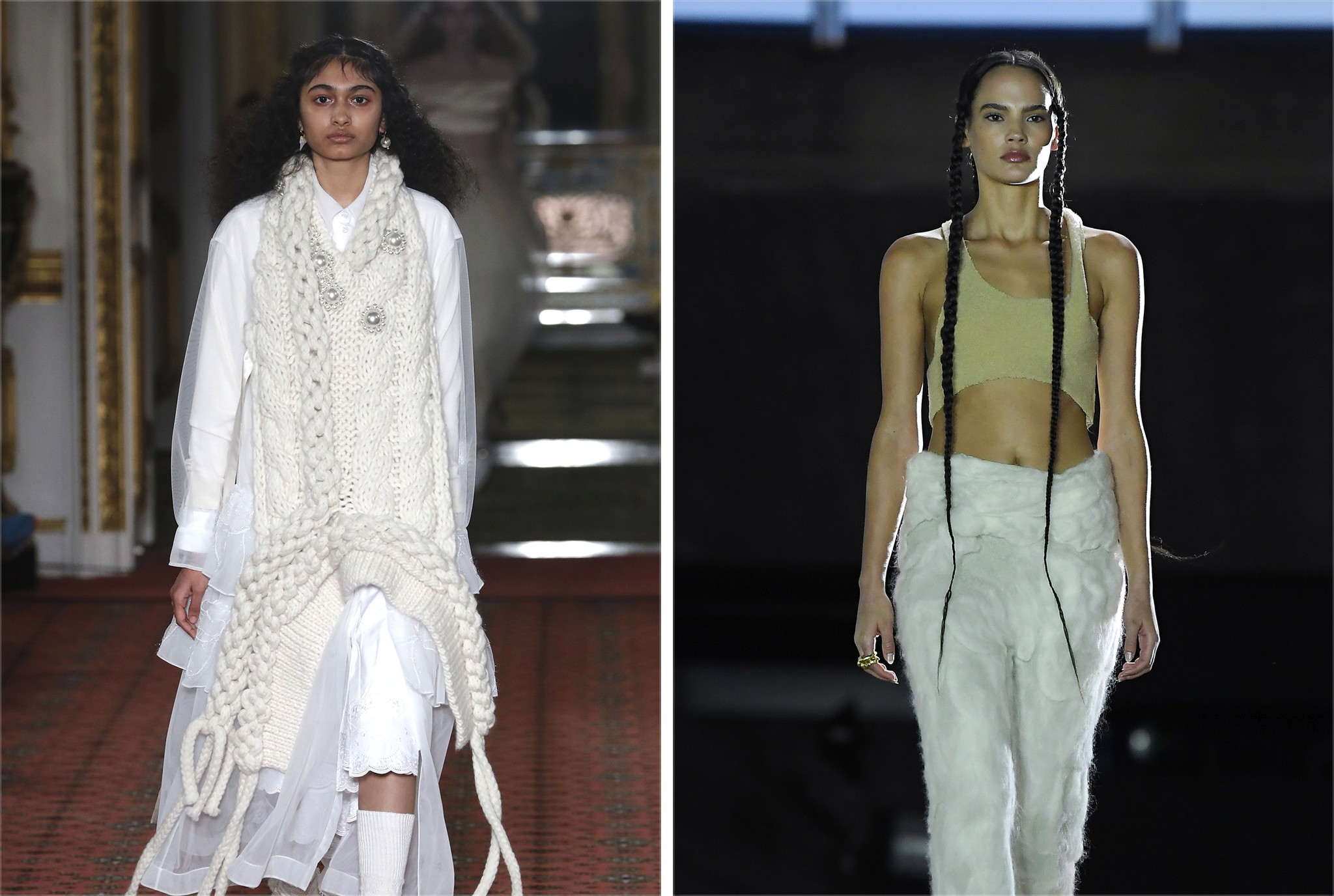 Fall looks from Yeezy and Simone Rocha.