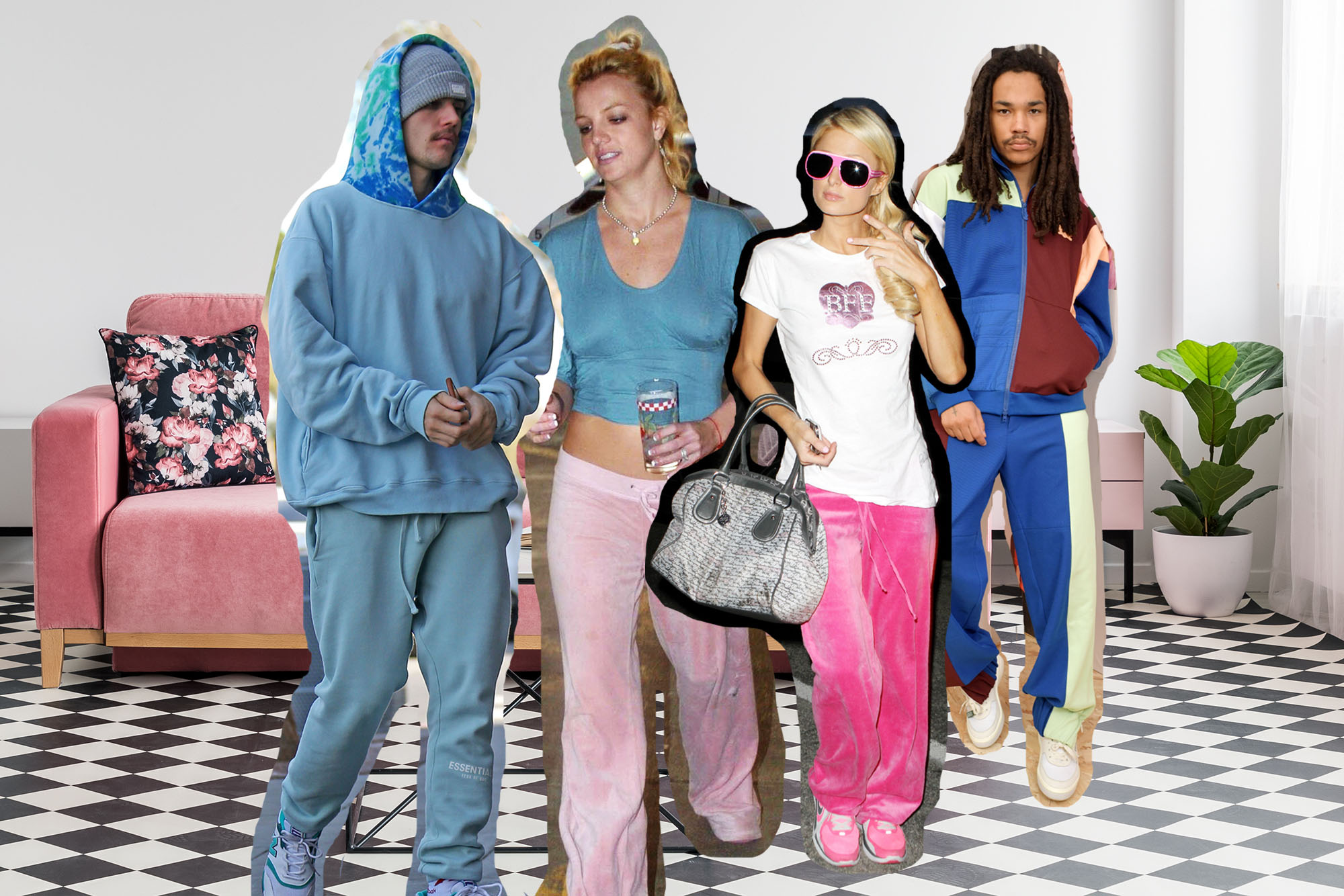 Celebrities wearing sweatpants