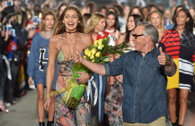 Gigi Hadid and Tommy Hilfiger on the catwalk