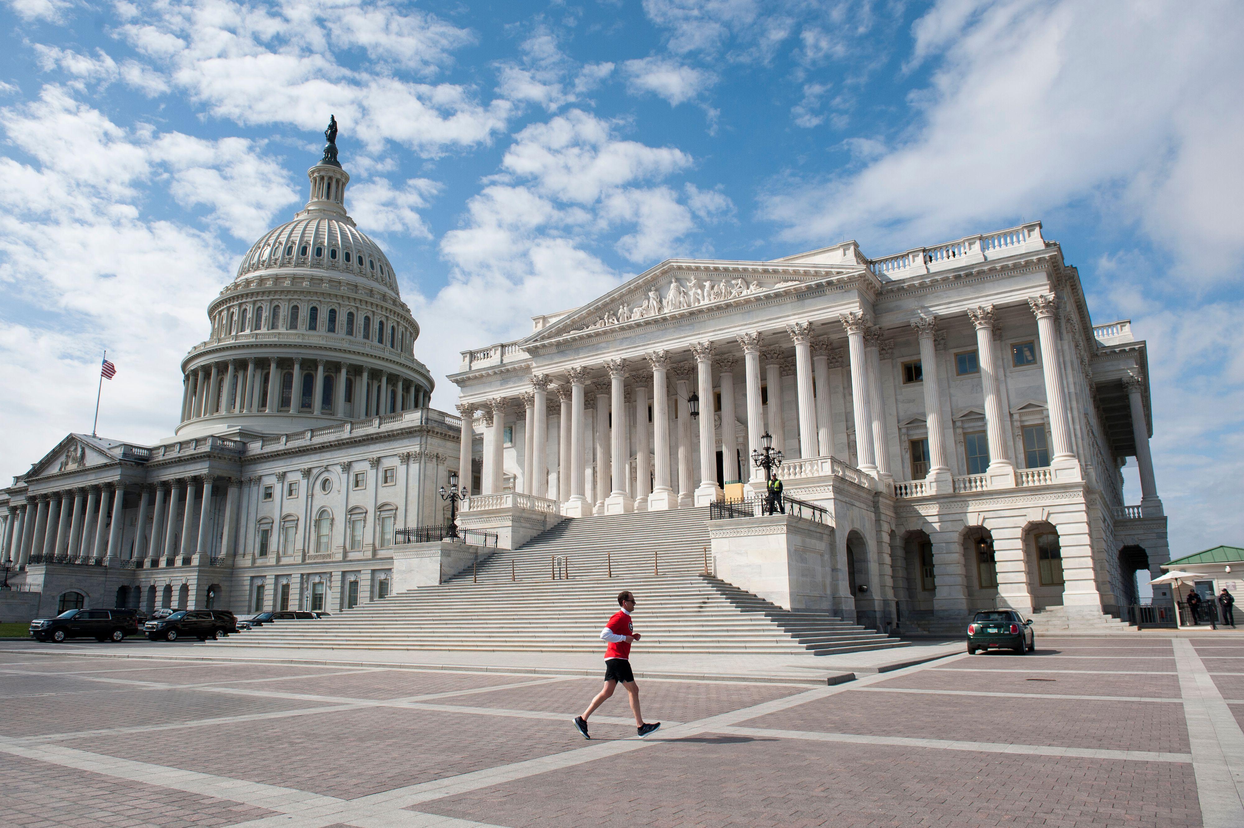 Empty US Capitol during Coronavirus Outbreak