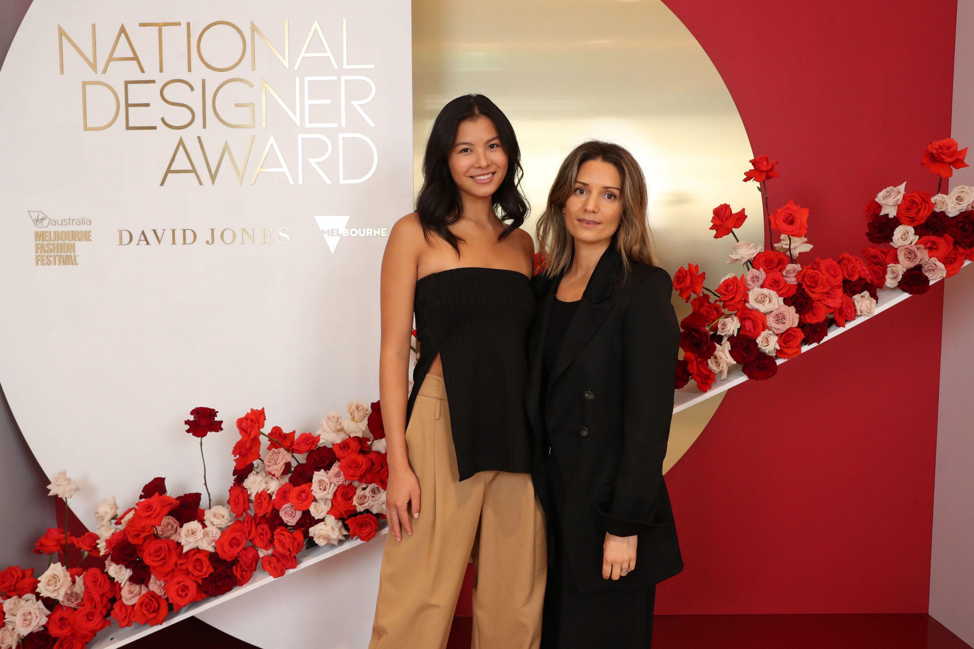 Charlotte Hicks 2020 National Designer Award at the Virgin Australia Melbourne Fashion Festival.
