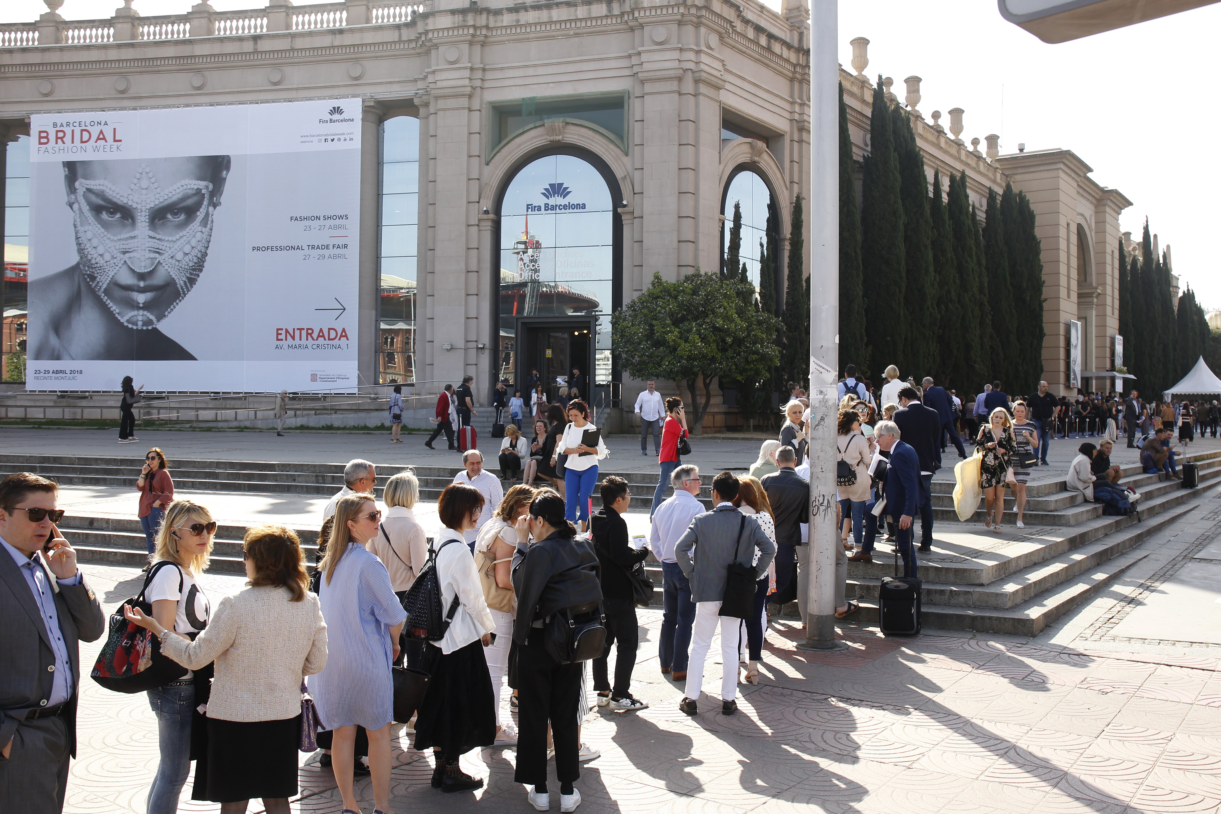 The scene at the Valmont Barcelona Bridal Fashion Week.