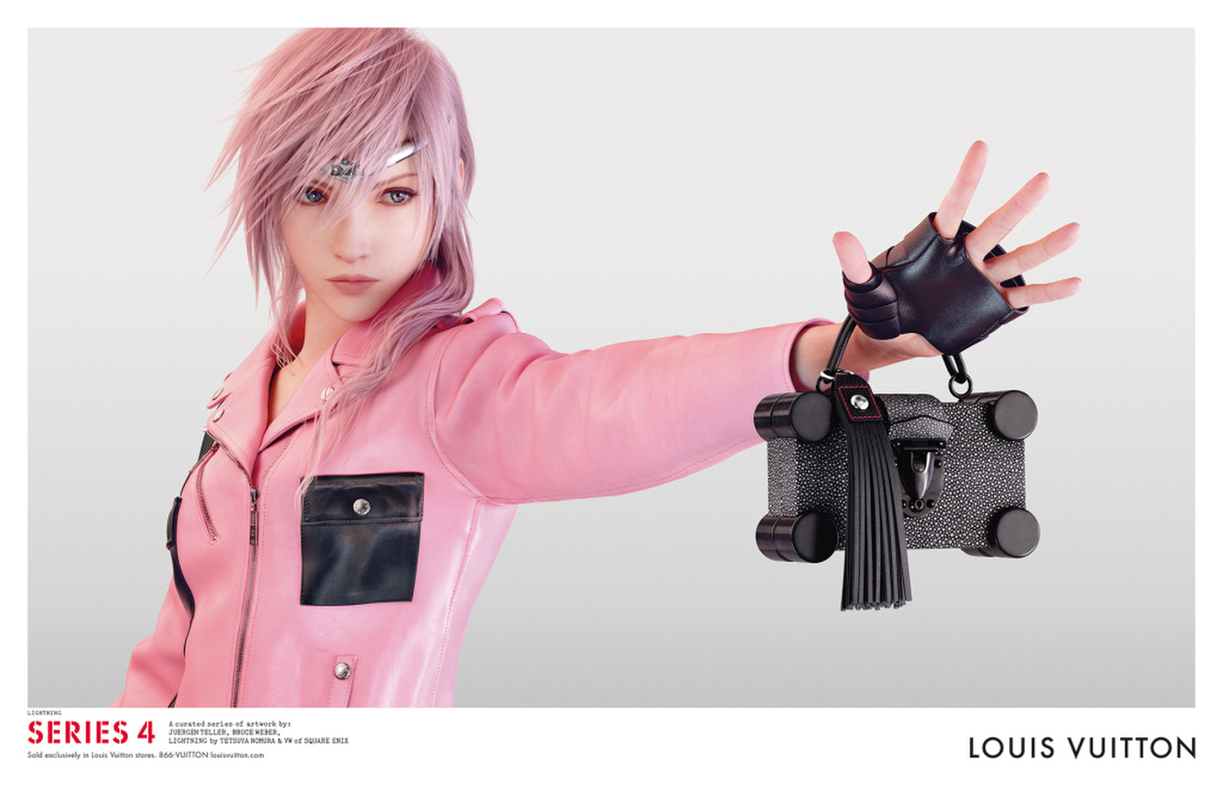 "The ""Series 4"" Louis Vuitton ad featuring Lightning by Tetsuya Nomura & VM of Square Enix."