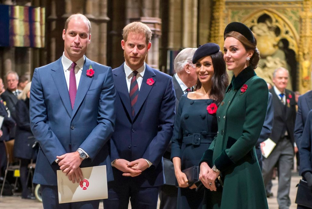 Prince William, Prince Harry, Meghan Duchess of Sussex, Catherine Duchess of CambridgeNational Service to mark the Centenary of the Armistice, Westminster Abbey, London, UK - 11 Nov 2018