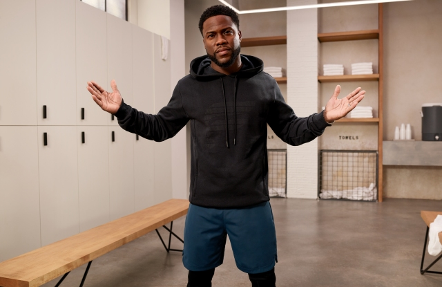 Kevin Hart in a campaign image for the new Fabletics Men line.