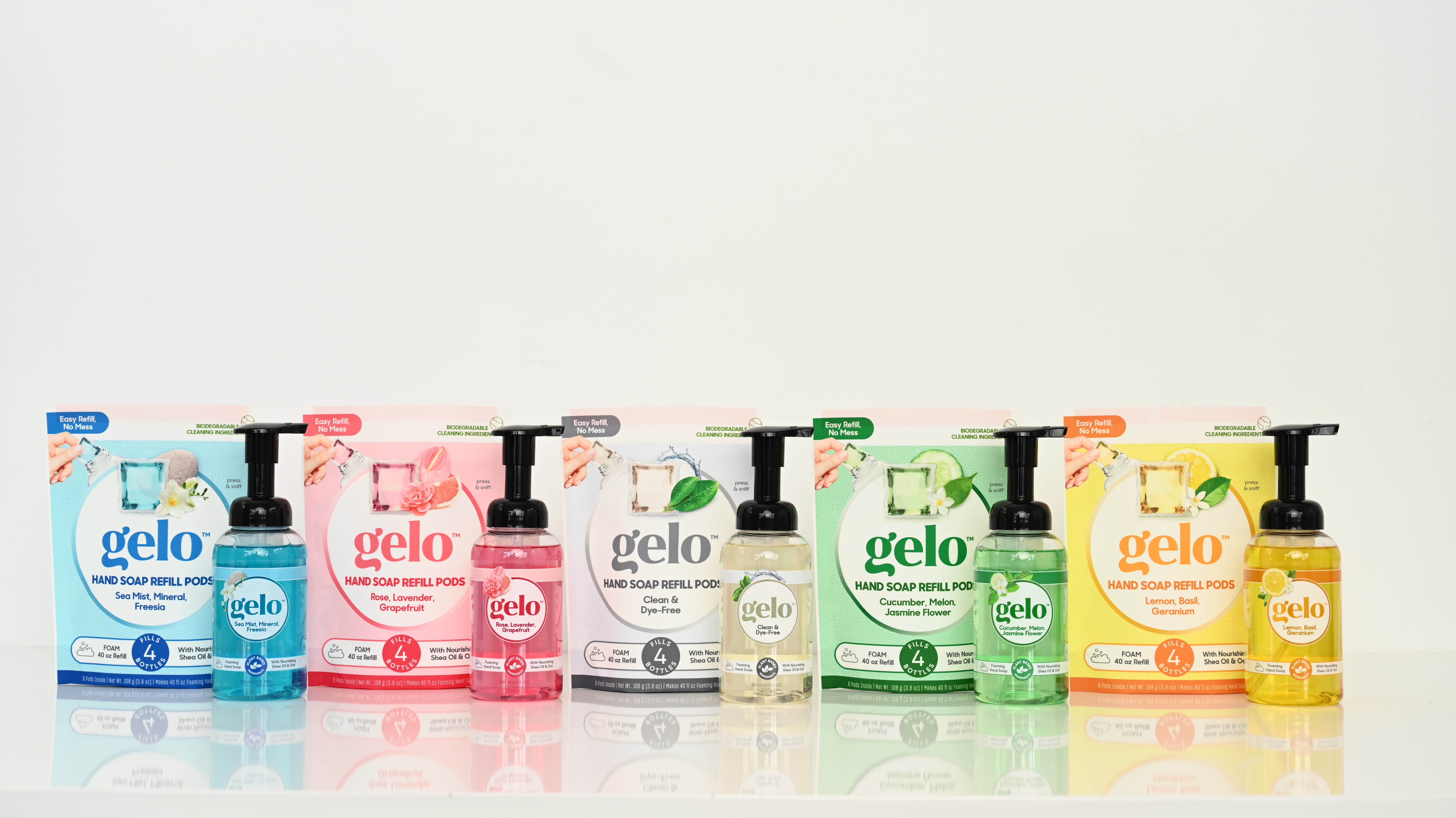 Gelo hand soap refillable biodegradable