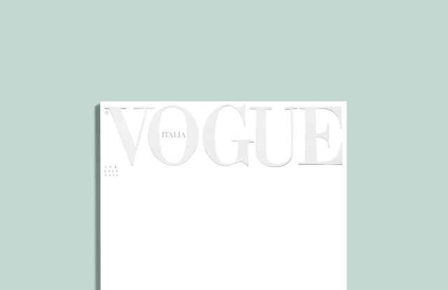 The cover of Vogue Italia April issue