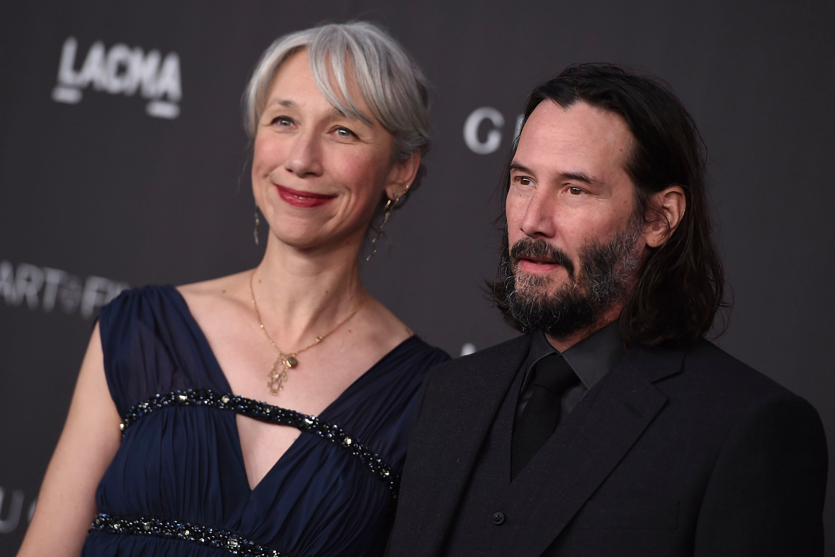 Keanu Reeves, Alexandra Grant. Keanu Reeves and Alexandra Grant arrive at the 2019 LACMA Art and Film Gala at Los Angeles County Museum of Art, in Los Angeles2019 LACMA Art and Film Gala, Los Angeles, USA - 02 Nov 2019