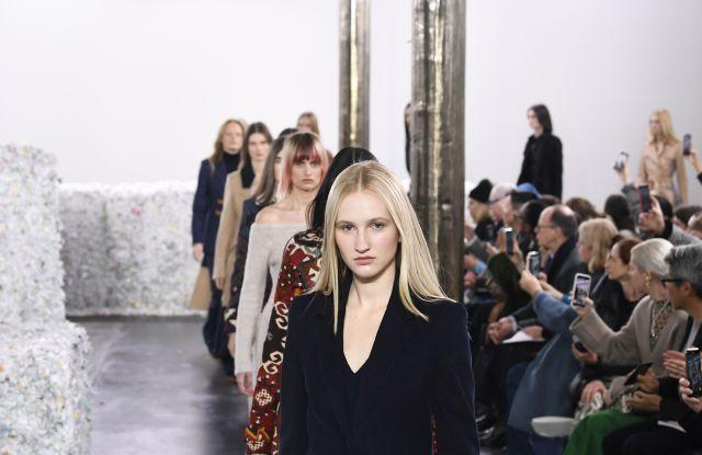 Model on the catwalkGabriela Hearst show, Runway, Fall Winter 2020, New York Fashion Week, USA - 11 Feb 2020