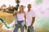 Hailey Bieber and Jaden Smith for Levi's
