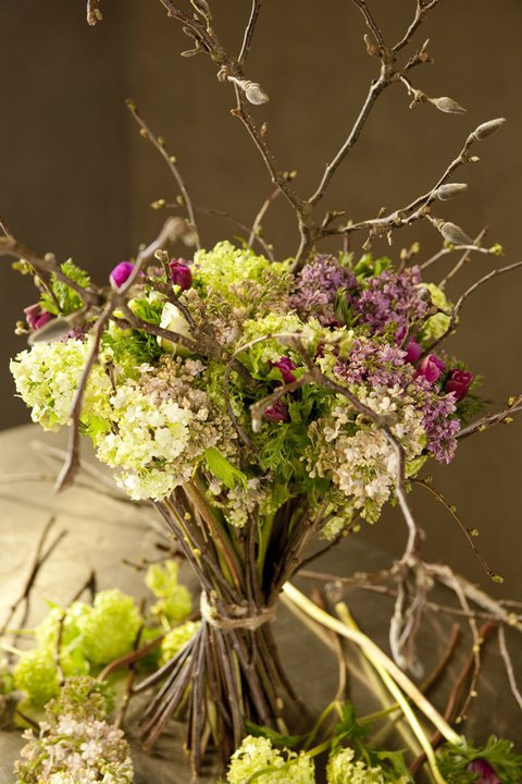 A Numero 9 flower bouquet.