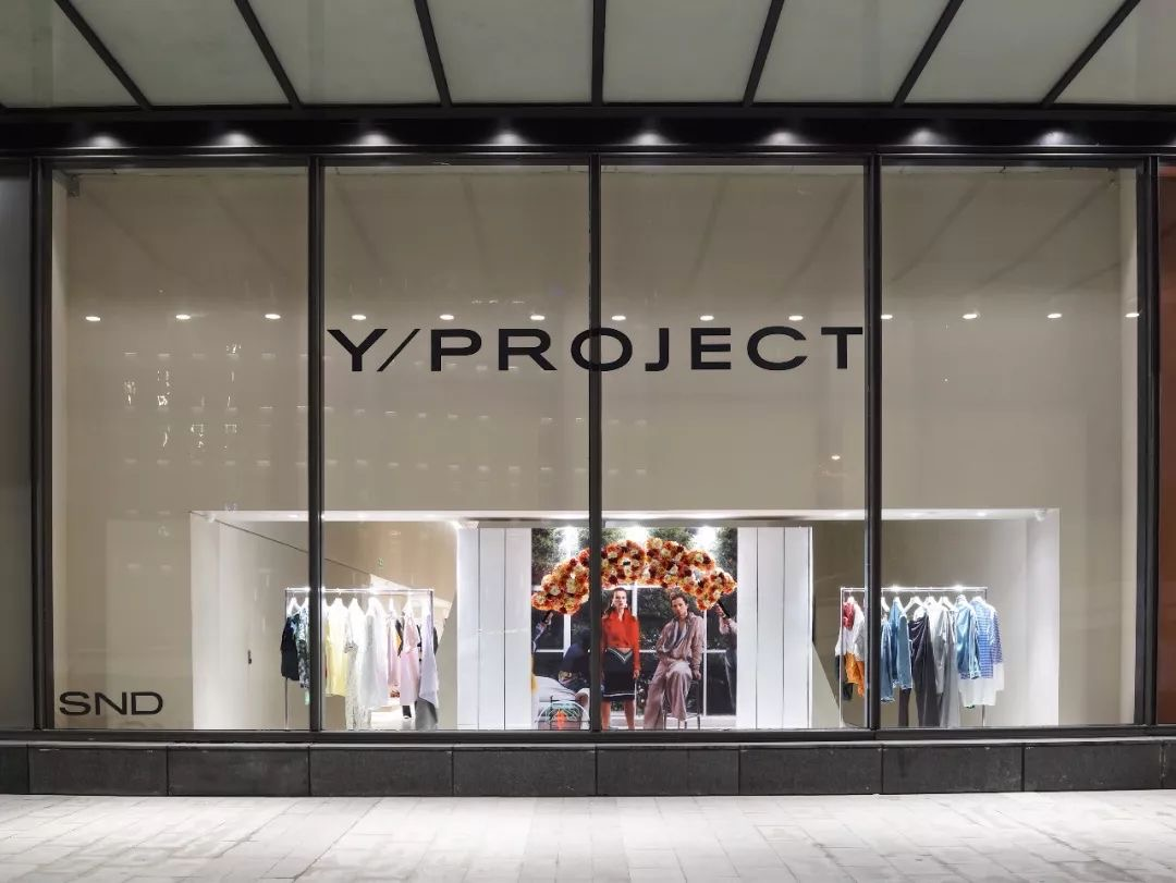 Y/Project window installation at SND flagship in Shin Kong Place Chongqing