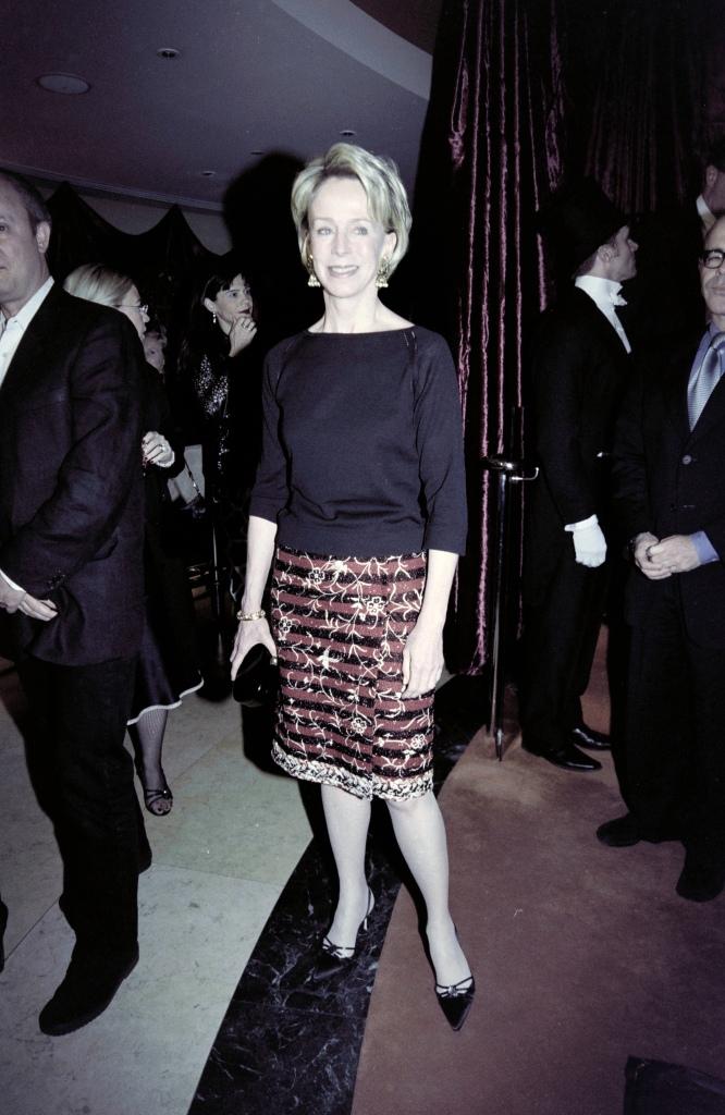 Anne Bass in Jean Paul Gaultier, 2001.
