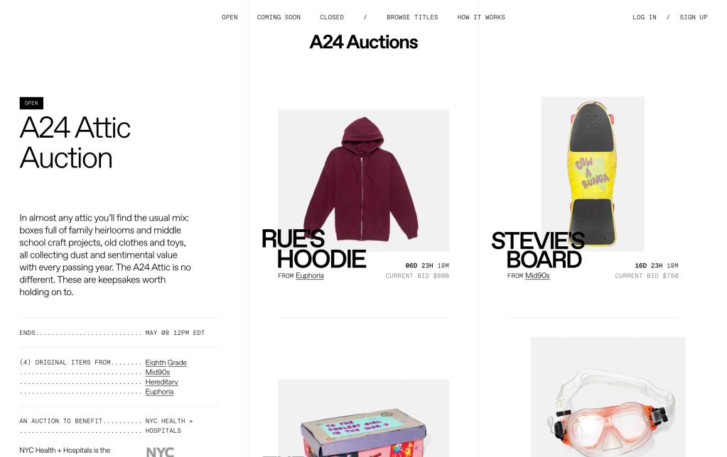 """A24's """"Attic Auction."""""""