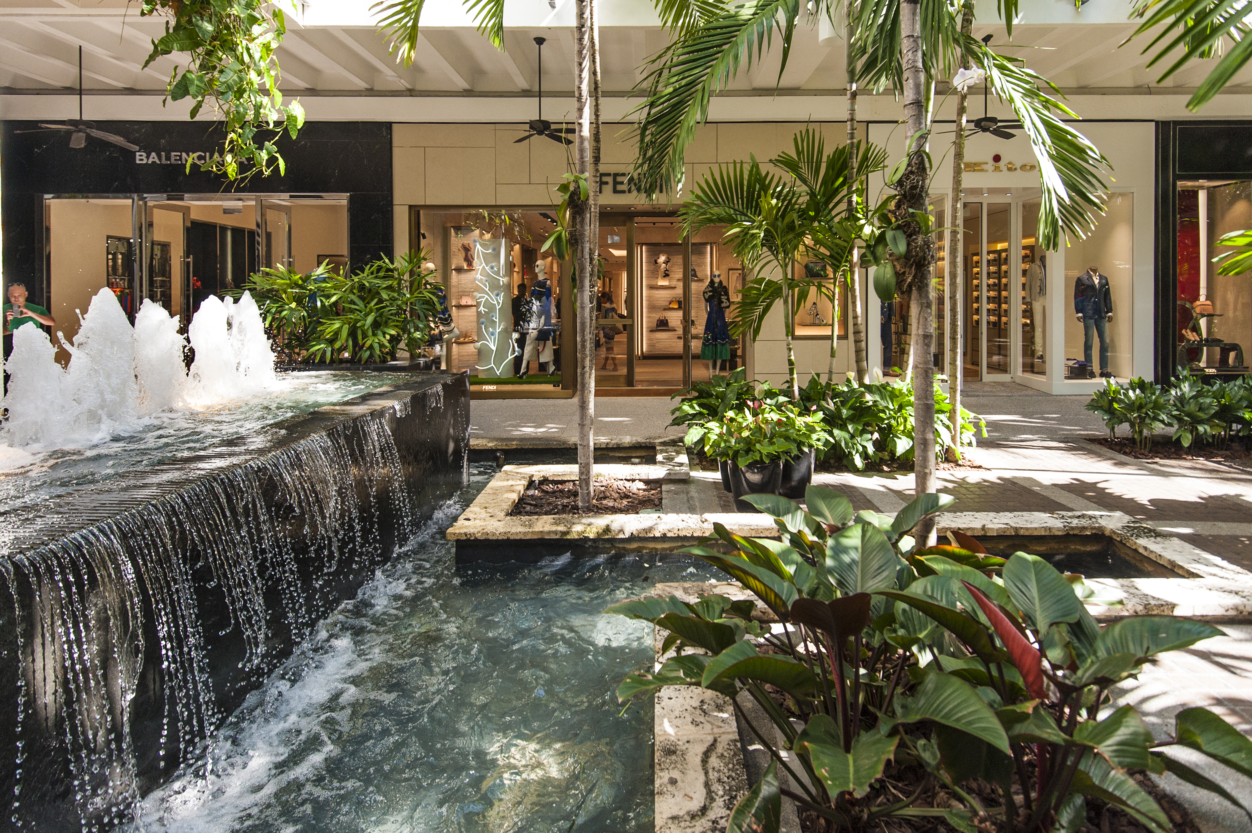 The center fountain at Bal Harbour Shops.