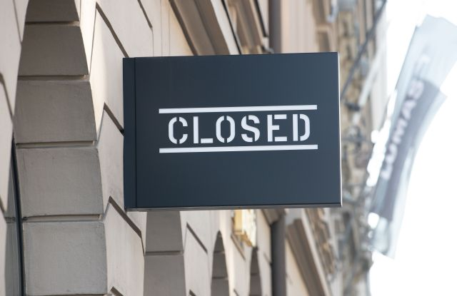 Closed sign Coronavirus
