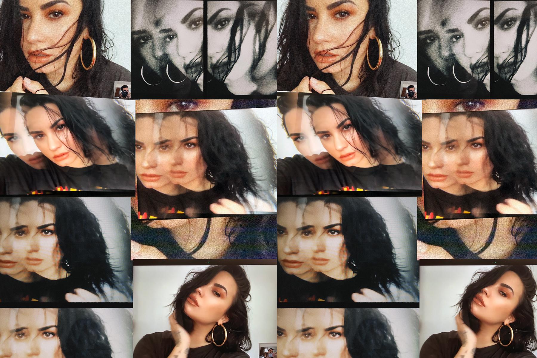 Demi Lovato's FaceTime shoot.