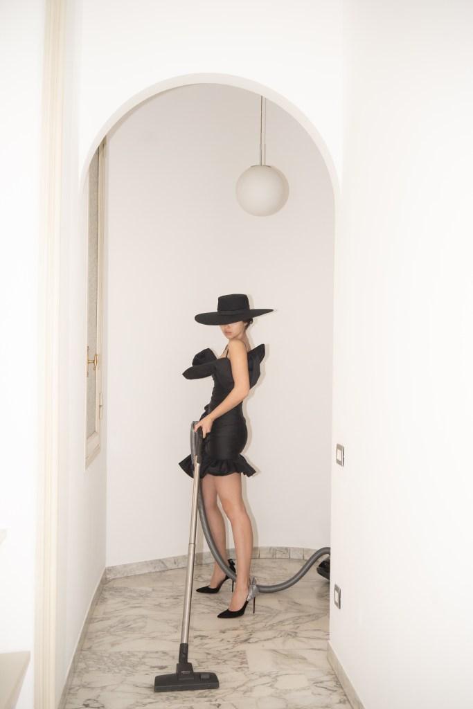 A self-portrait taken by Doina CIobanu at home