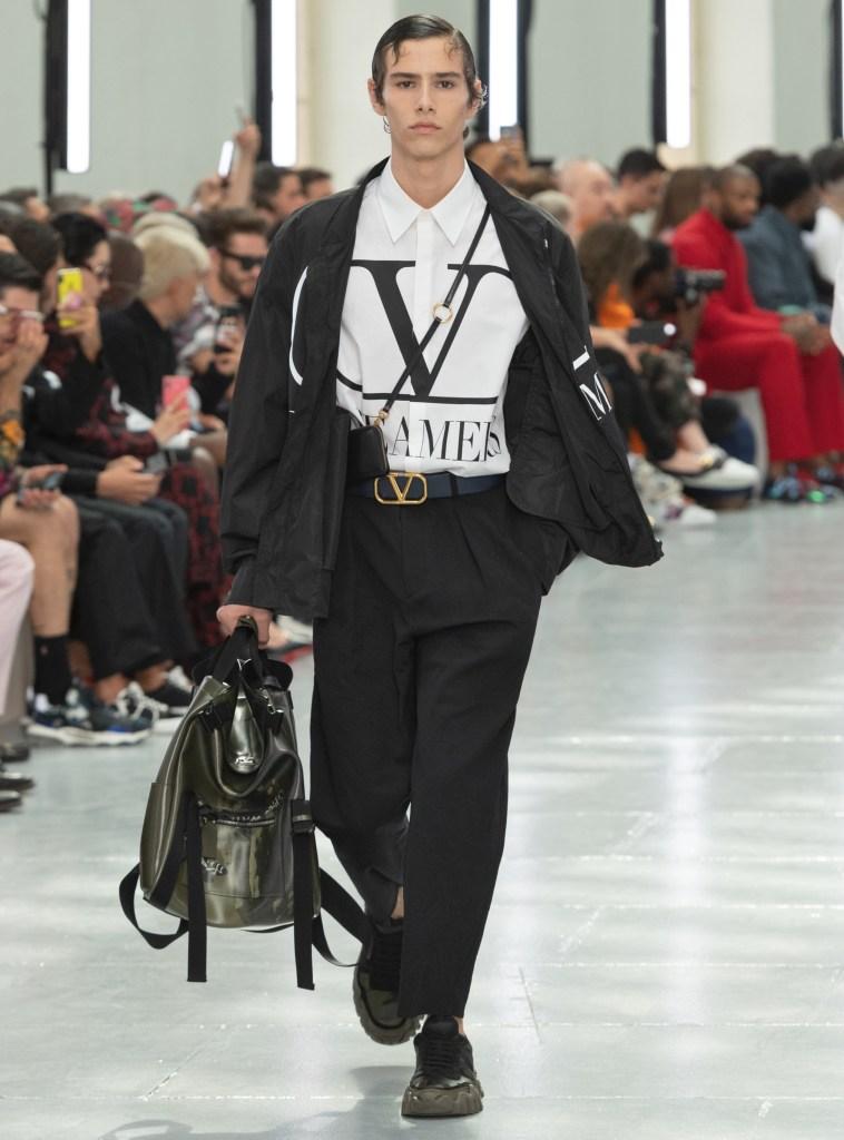 Ellery Harper Walker on the Valentino runway.