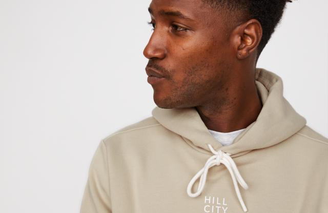An organic cotton hoodie at Gap Inc.'s Hill City brand.