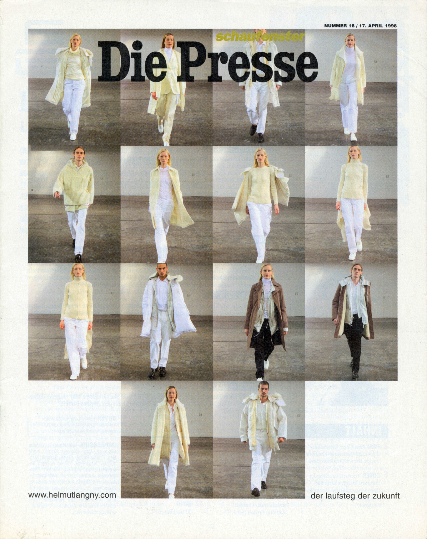 Cover of Die Presse weekend supplement
