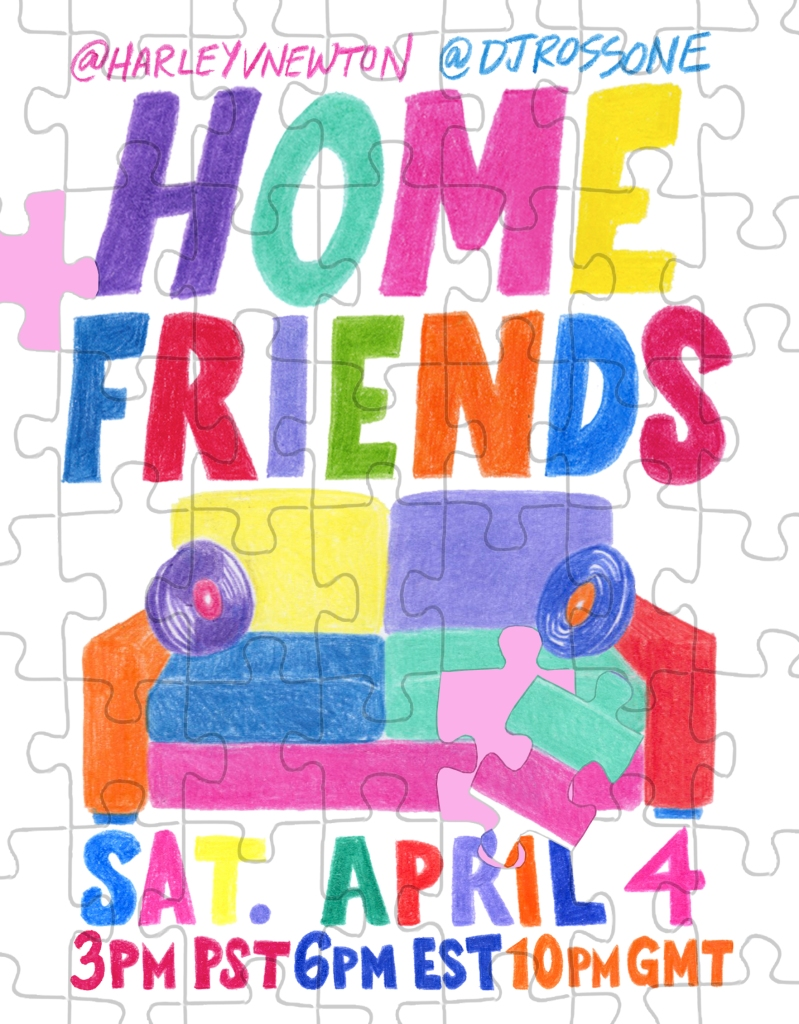 Invitation for HomeFriends... Live From Home.