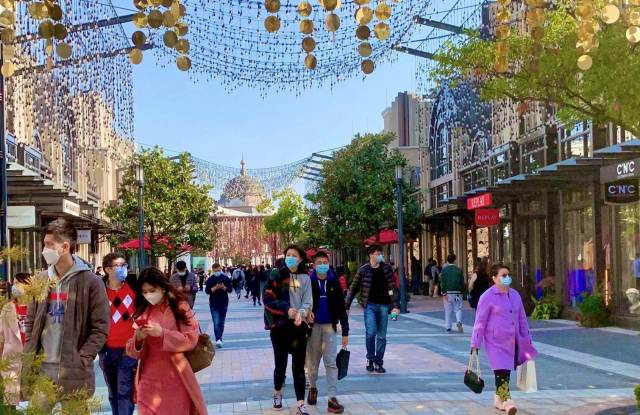 An image of Shanghai Village taken on April 2, 2020, following the reopening last month.