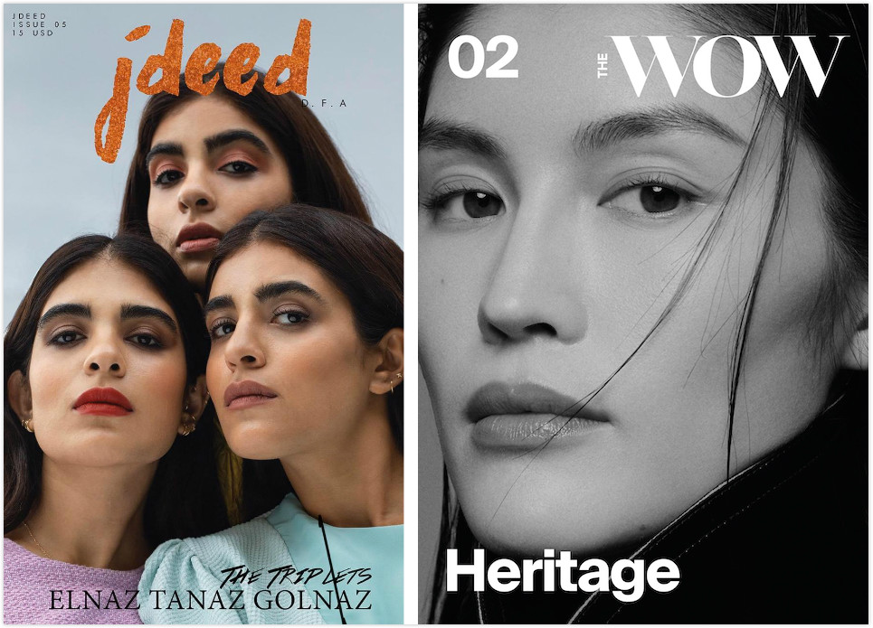 The cover of the latest issue of jdeed and the second issue of The WOW