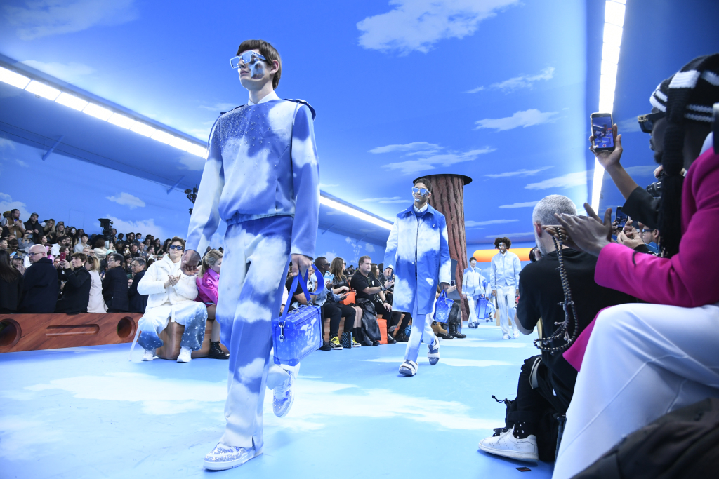Ambiance at Louis Vuitton Men's Fall 2020, photographed in Paris on Jan 16, 2020.