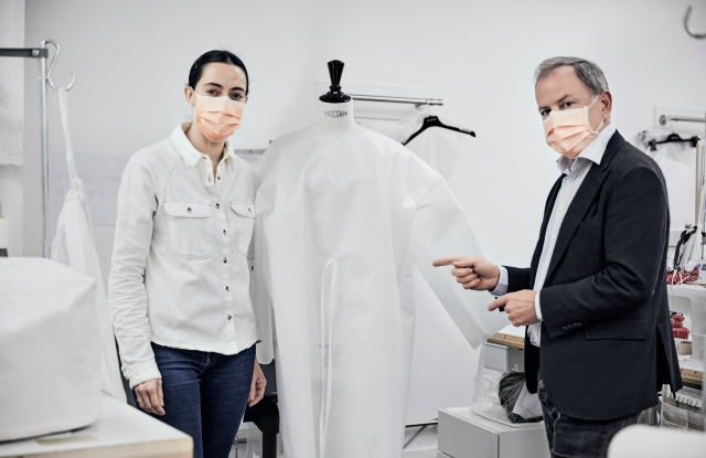 Louis Vuitton is making medical garments