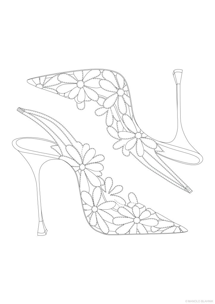 A sketch shared by Manolo Blahnik