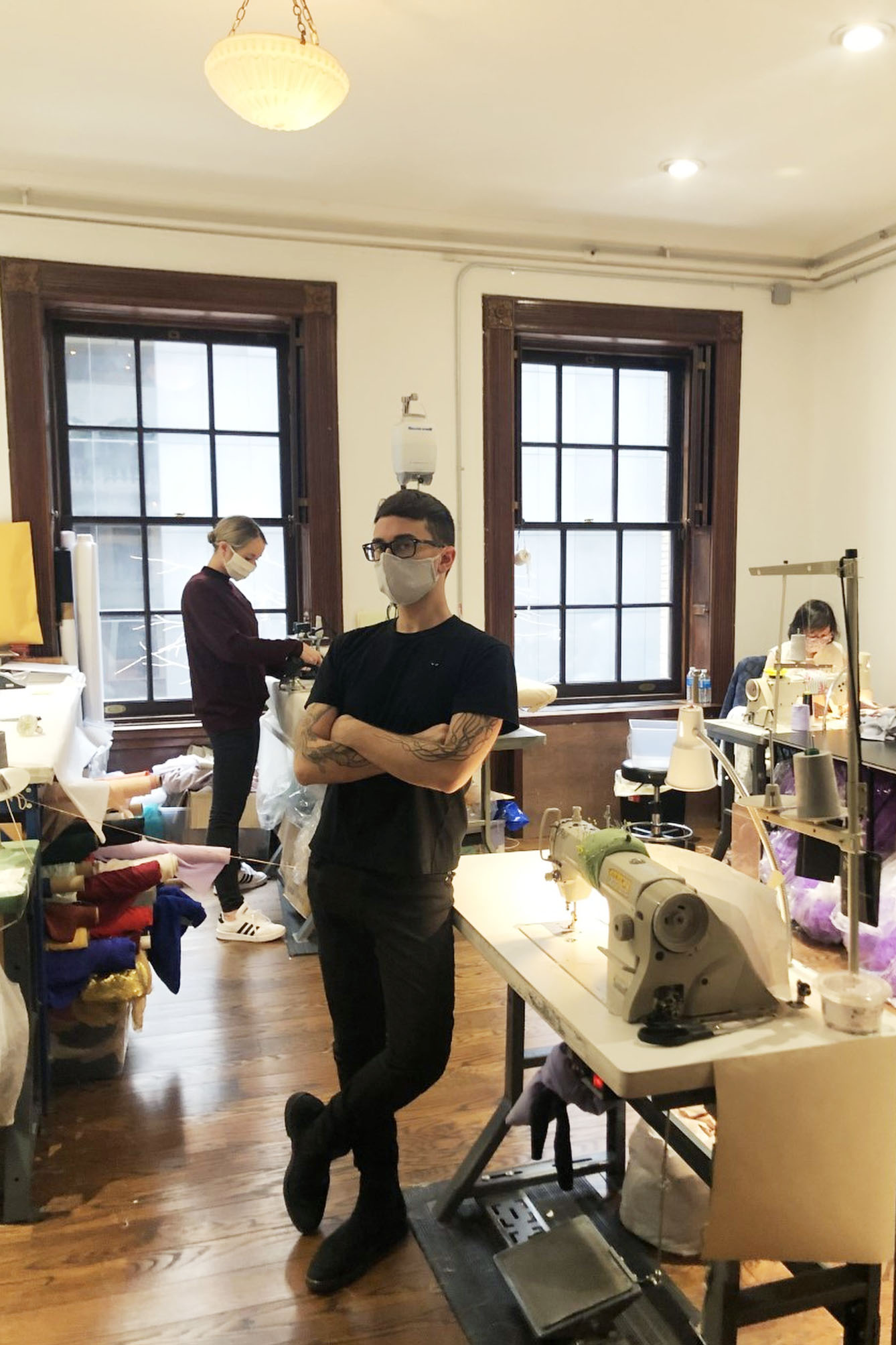 Christian Siriano is leading a team to make masks and gowns for relief workers.