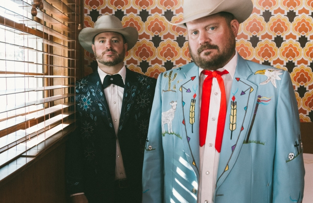 Wade Bowen and Randy Rogers in the custom Manuel suits.