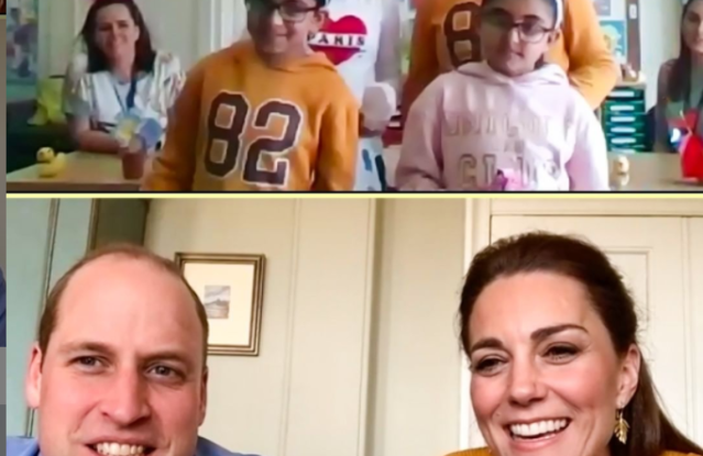 Prince William and Kate Middleton on Zoom