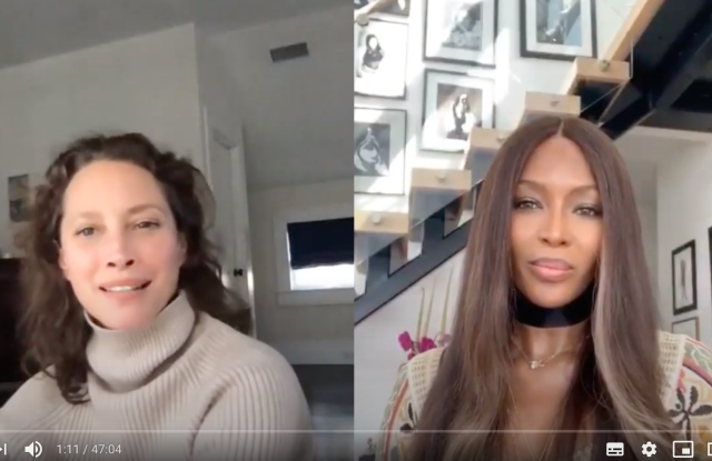 Naomi Campbell interviews Christy Turlington on her YouTube channel