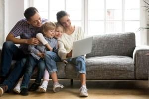 shopping online family