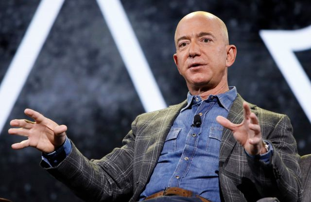 Amazon CEO Jeff Bezos speaks at the the Amazon re:MARS convention, in Las VegasAmazon Bezos, Las Vegas, USA - 06 Jun 2019