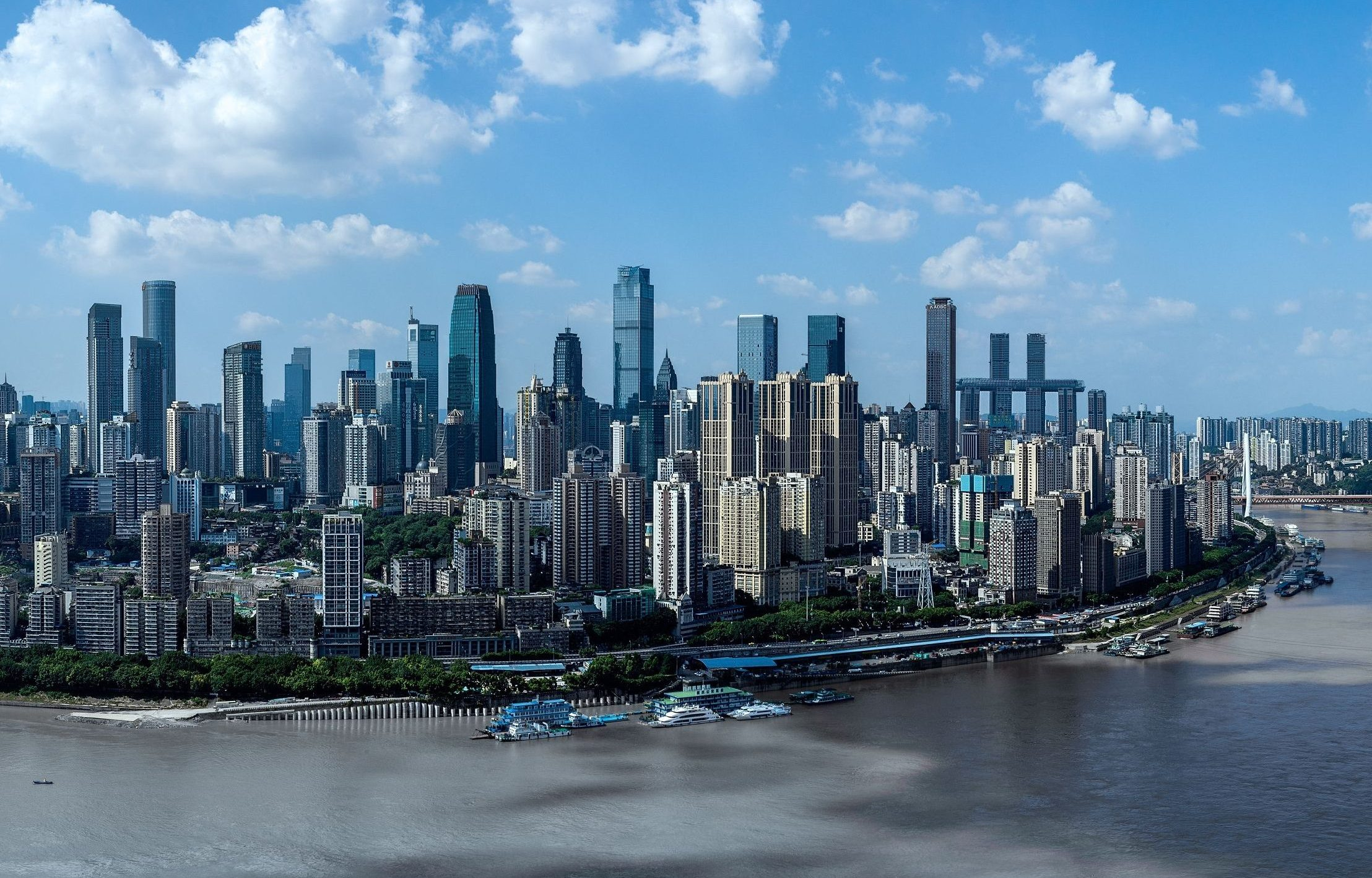 The skyline of Chongqing in Southwest China.